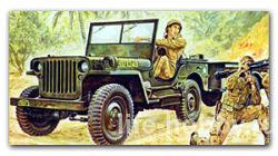 0314 US Willy's Jeep with Trailer